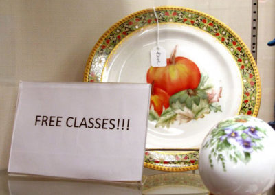 Free classes sign