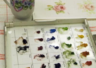different color paints