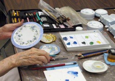 Porcelain Paint clubroom 7